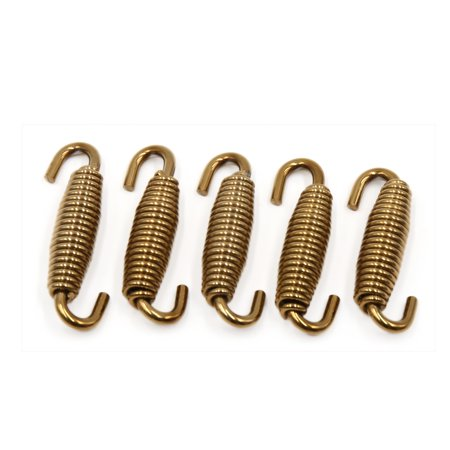 5Pcs 43mm Gold Tone Motorcycle Exhaust Mounting Springs Expansion Link Tube - image 1 of 1