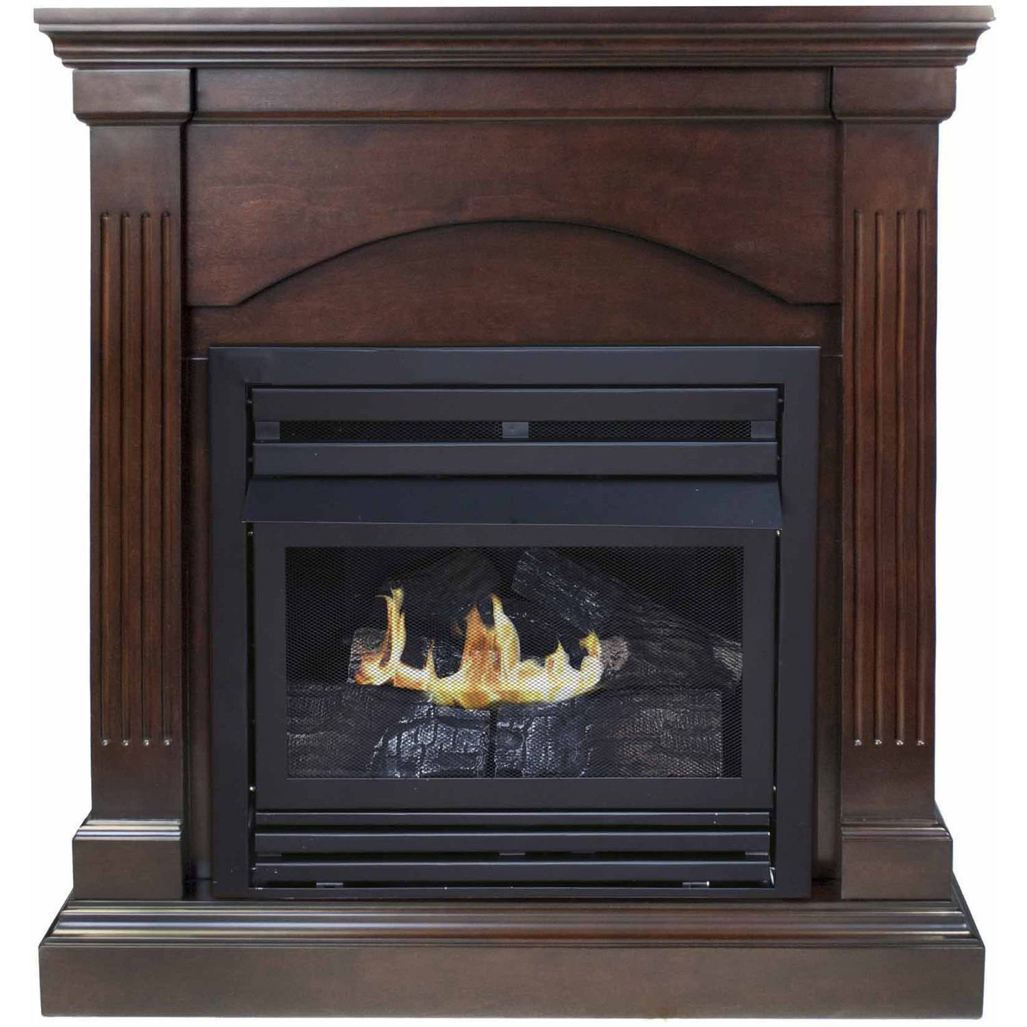 "Pleasant Hearth VFF-PHCPD-2T 36"" Compact Tobacco Vent-Free Fireplace System, 20,000 BTUs"