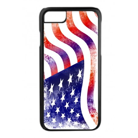 Grunge American Flag Design Black Plastic Phone Case That Is Compatible with the Apple iPhone 5 / 5s