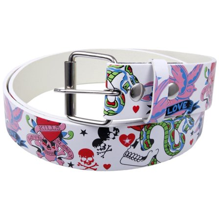 Love Kills Slowly Leather Belt - X-Large