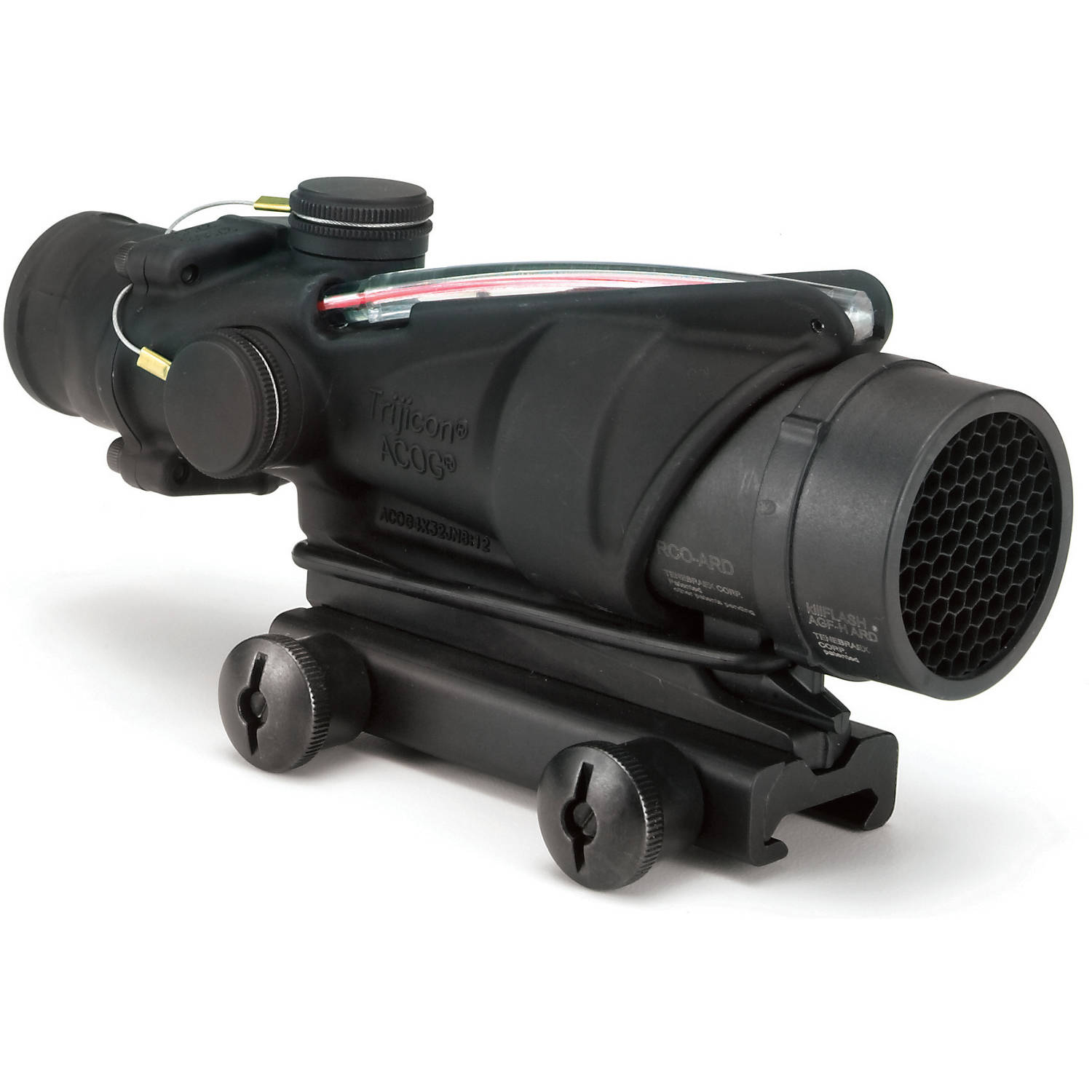 Trijicon ACOG Rifle Scope, 4X 32, Red Chevron Reticle BAC, M16M4, Matte by Trijicon