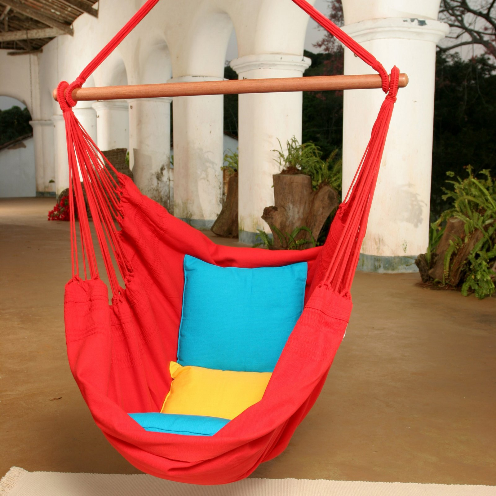 Brazilian Cotton Fabric Hanging Chair-Blue