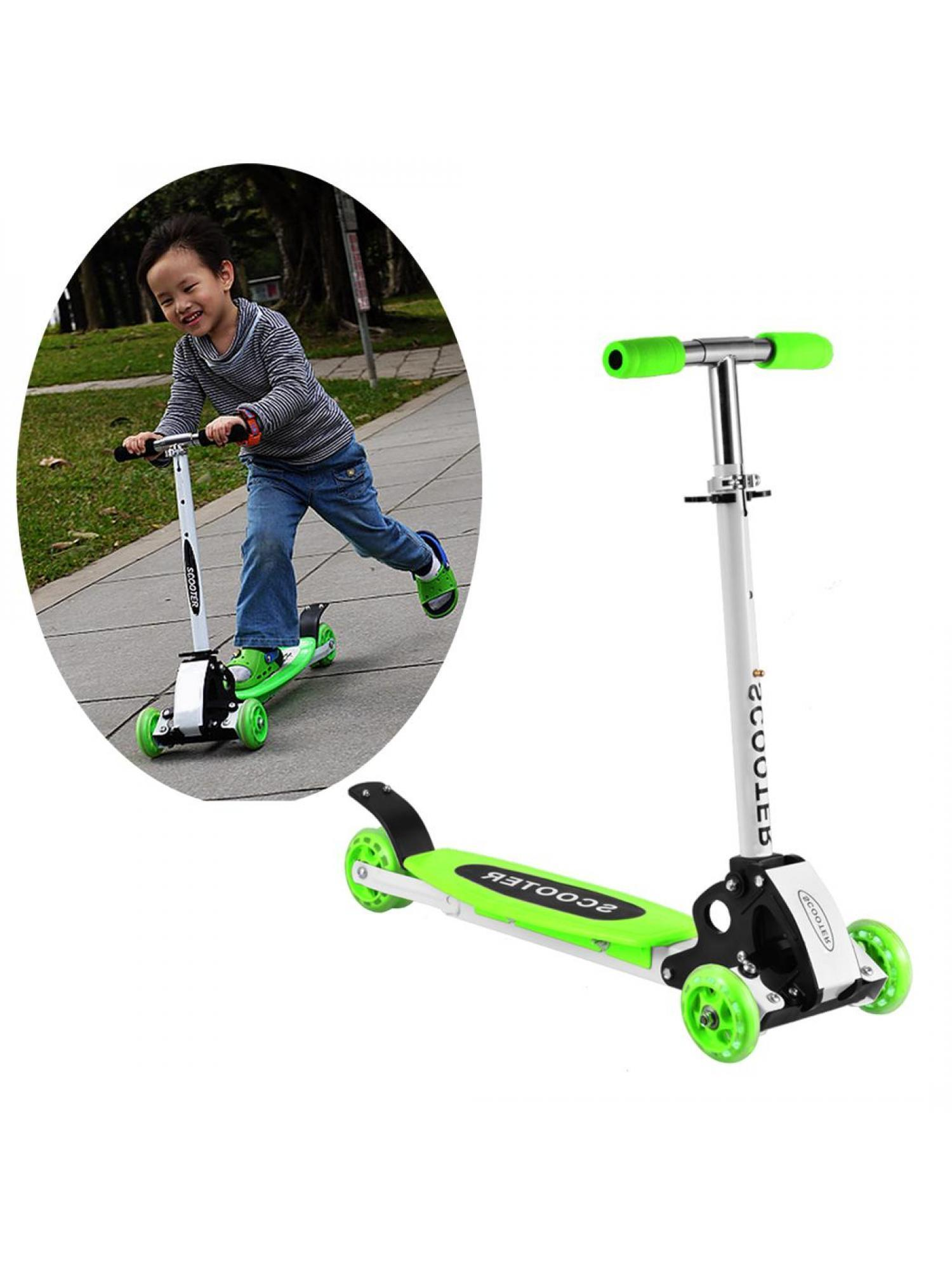 3 Wheels Kids Adjustable Folding Mini Alloy Foot Scooter WSY by