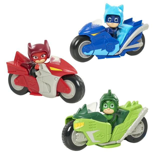PJ Masks Kickback Motorcycles 2-Piece Figure Set Owlette and Vehicle