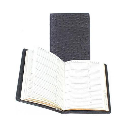 """Scully Tel/Address Book Ostrich 1145  5.85"""" x 8.15"""""""