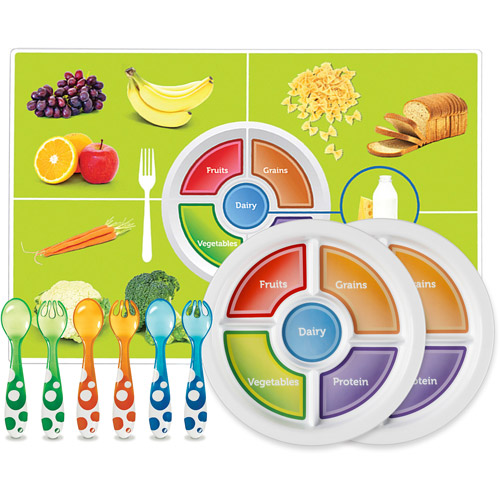 Munchkin Balanced Meal Re-usable Placemat, BPA-Free