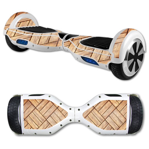 MightySkins Protective Vinyl Skin Decal for Hover Board Self Balancing Scooter mini 2 wheel x1 razor wrap cover Parquet