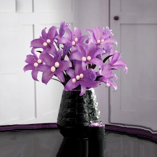 Efavormart 70 TIGER LILY Artificial Wedding Flowers for DIY Wedding Bouquets Centerpieces Arrangements Party Home Decorations