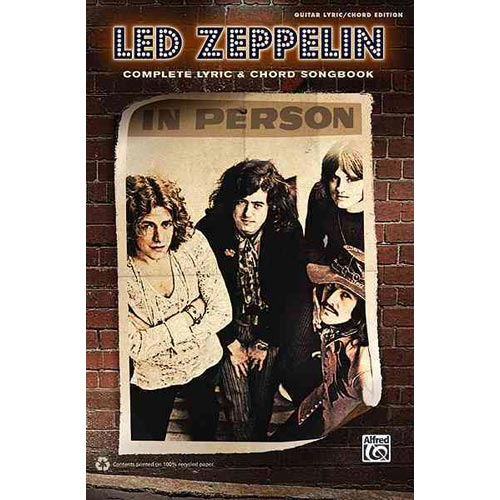 Led Zeppelin: Complete Lyric & Chord Songbook: Guitar Lyric/ Chord Edition