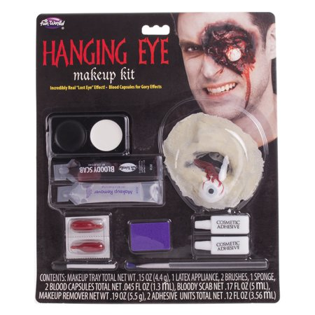 FX Hanging Eye Makeup 11pc Special Effects Kit, .34 oz, Red Pink White - Simple Pretty Halloween Eye Makeup