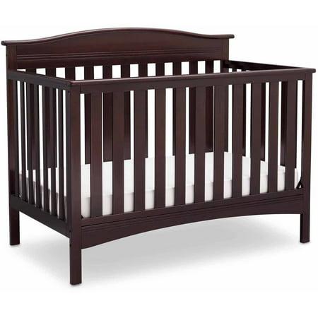 Delta Children Baker 4-in-1 Convertible Crib, Dark Chocolate