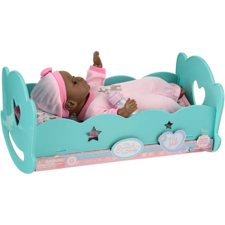 My Sweet Love® Cradle & Baby 3 pc Box - Pink And Blue My Little Pony