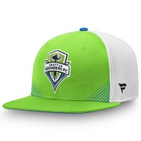Seattle Sounders FC Fanatics Branded Iconic Adjustable Snapback Hat - Rave Green/White - OSFA