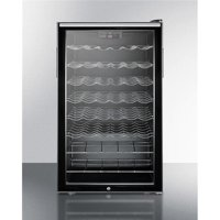 Summit Appliance SWC525LBIHH 20 in. Wide Built-in Undercounter Wine Cellar with Lock, Glass - Black
