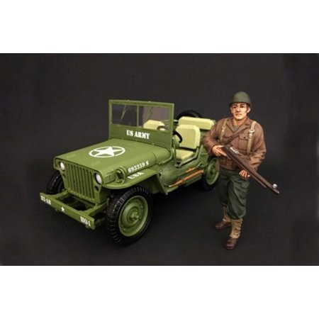 WWII US ARMY Soldier #2, American Diorama 77411 - 1/18 Scale Hand Painted (Us Army Soldiers)