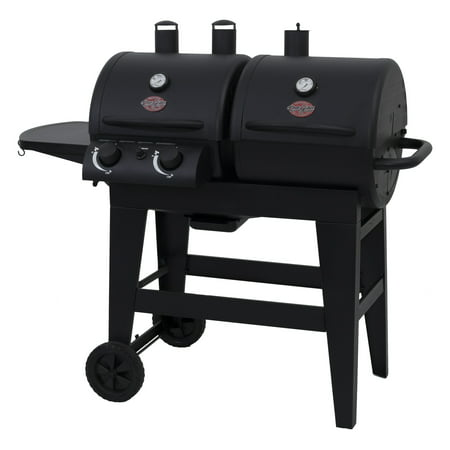 Combination Gas Grill - Char-Griller Dual 2 Burner Charcoal & Gas Grill, Black, E5030