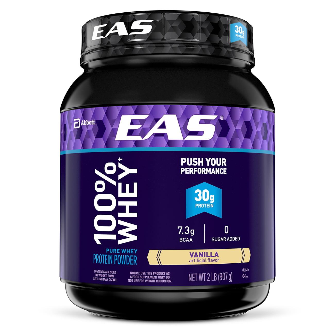 EAS 100% Whey Protein Powder, Vanilla, 30g Protein, 2 lb