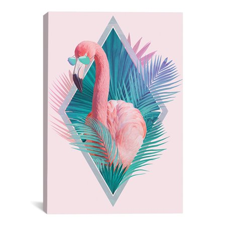 "Flamingo Vice Artwork | Choose from Canvas or Art Print | Living Room, Bedroom, Office, Bathroom Wall Decor Art Ready to Hang Para El Hogar Decoracion | 48"" x 32"" - Decoracion Halloween Barato"