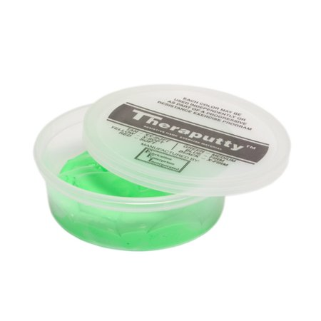 CanDo Theraputty Standard Exercise Putty, Green Medium, 2 oz.-1 Each