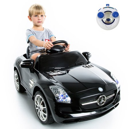 mercedes benz sls r/c mp3 kids ride on car electric battery toy