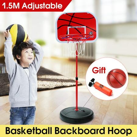 "28.35""-59.06"" Height Adjustable Basketball System Hoop Rim Net Set Backboard Basketball Stand Set Gift Toy For Kids Children"