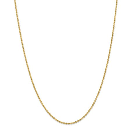 Handmade Chain (14k Yellow Gold 2mm Handmade Regular Rope Chain Necklace or Bracelet )