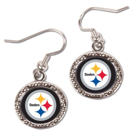Pittsburgh Steelers WinCraft Women's Round Dangle Earrings - No (Pittsburgh Pirates Logo Earrings)