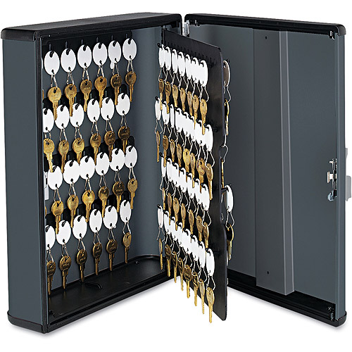 SteelMaster by MMF Industries Security Key Cabinet for 90 keys, Charcoal Gray