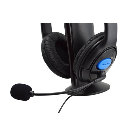 Mosunx Wired Gaming Headset Headphones with Microphone for PS4 PC Laptop (Computer Telephone Integration)