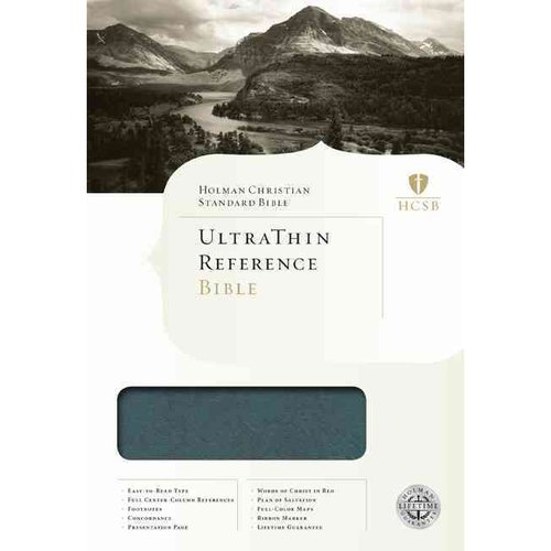 HCSB UltraThin Reference Bible-Mantova Blue LeatherTouch Indexed