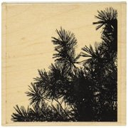 Penny Black 459877 Pine Silhouettes Mounted Rubber Stamp, 3.25 by 3.75-Inch