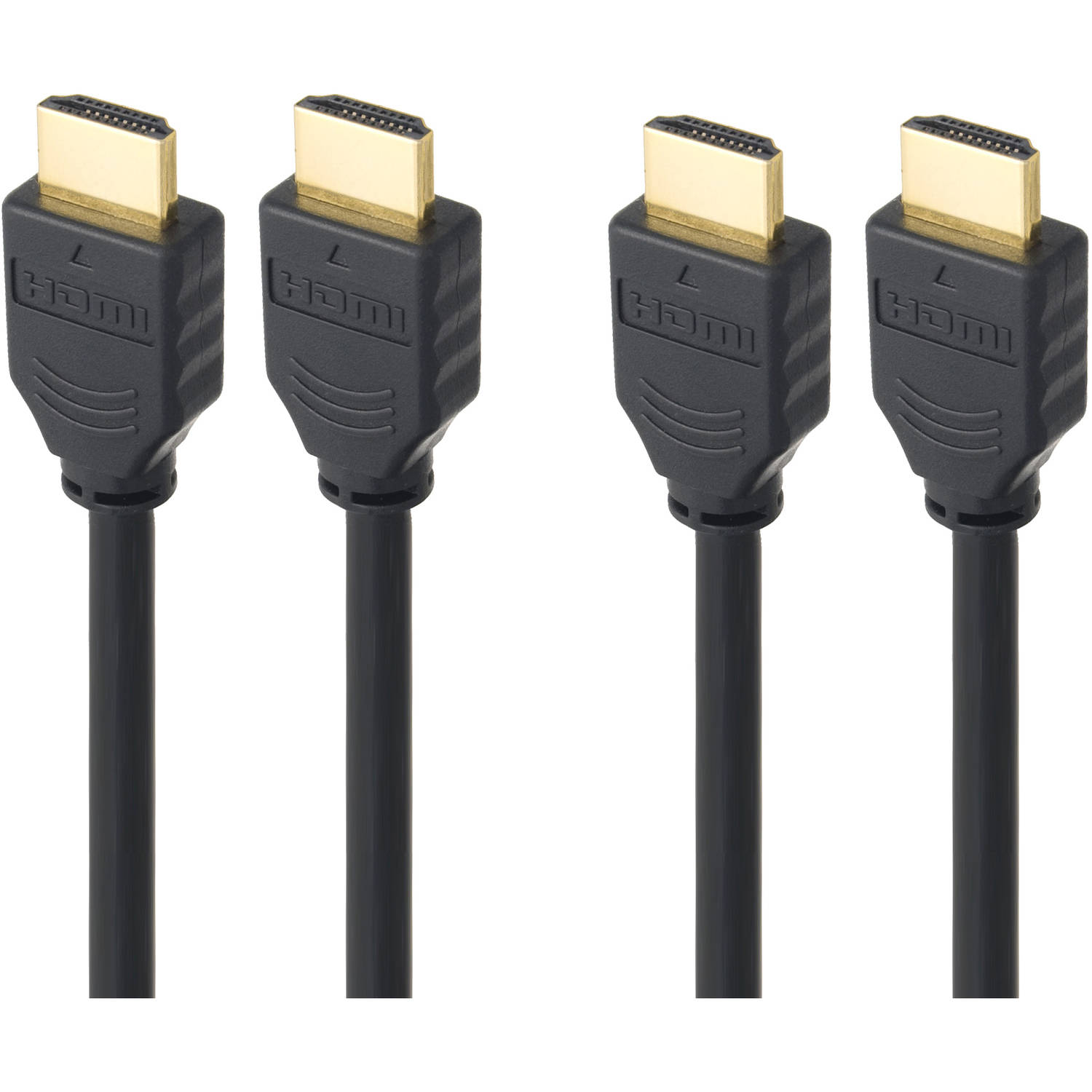 Link Depot Gold-Plated High-Speed HDMI Cable  6'/10'/15', 2 pack