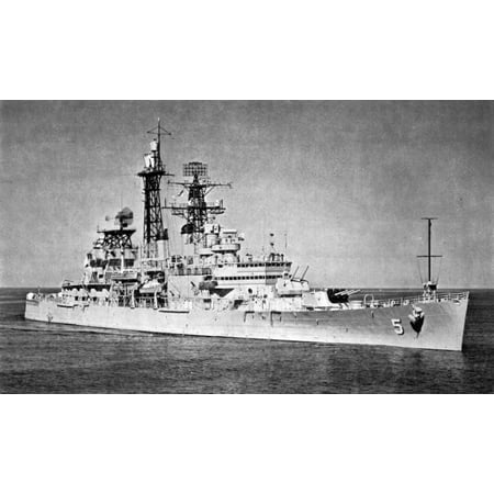 LAMINATED POSTER The U.S. Navy guided missile cruiser USS Oklahoma City (CLG-5), in 1961-62. Poster Print 24 x 36](Halloween Fun In Oklahoma City)
