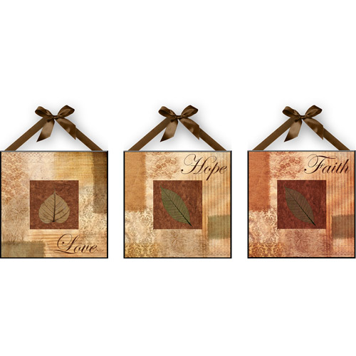 """Love, Hope & Faith"" Wall Plaques, Set of 3 by"