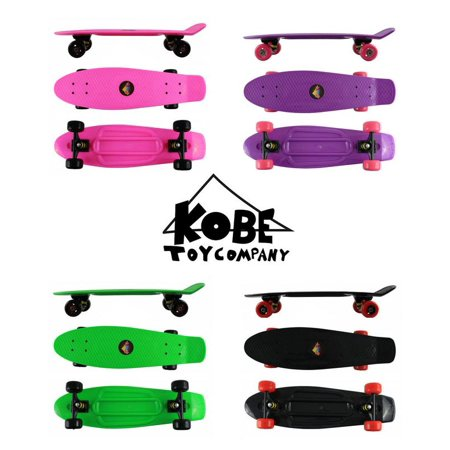 "KOBE PENNY SKATEBOARD - 27"" Deck - Retro Mini Cruiser - Waffle Surface - for Kids and Adults - image 1 de 4"