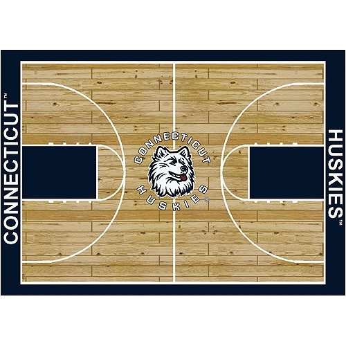 Milliken Ncaa College Home Court Area Rugs - Contemporary 01067 Ncaa College Basketball Sports Novelty Rug