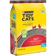 Purina Tidy Cats Non-Clumping Cat Litter 24/7 Performance for Multiple Cats 50 lb. Bag