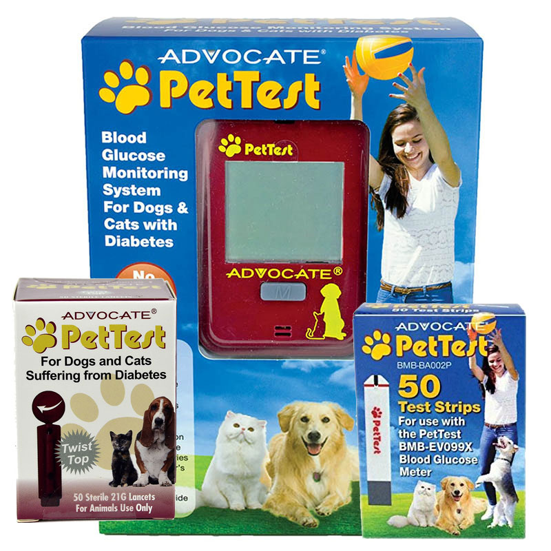 Advocate Pet Test Test Strips 75 With Pet Test Monitor Kit And Pet