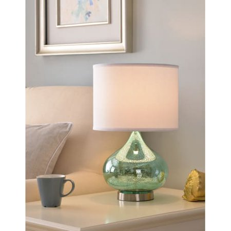 Annalie Green Antique Mercury Glass Accent Lamp (Green Glass Lamp)
