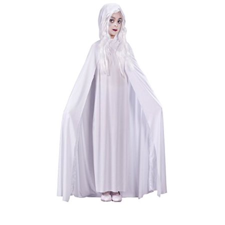 Girls Gossamer Ghost Kids Child Fancy Dress Party Halloween Costume, L (12-14) - Gossamer Costume