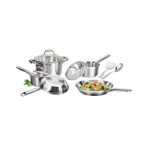 T-Fal 10-Piece Stainless Steel Cookware Set