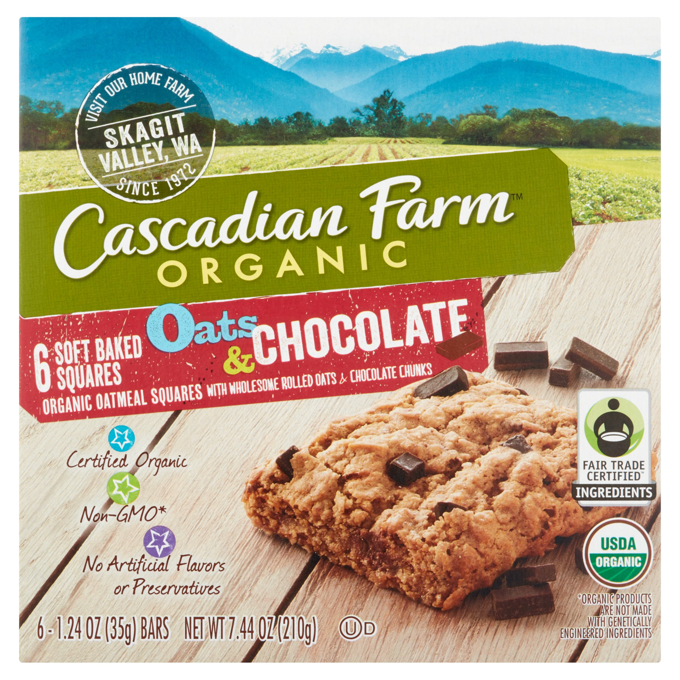 Cascadian Farm��� Organic Oats & Chocolate Soft Baked Squares 6 ct Box