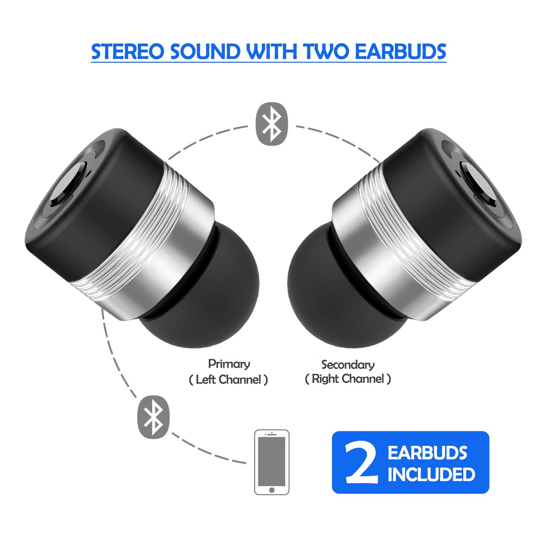 AGPtek Mini True Wireless Bluetooth Twins Stereo In-Ear Earbuds Headset Earphone