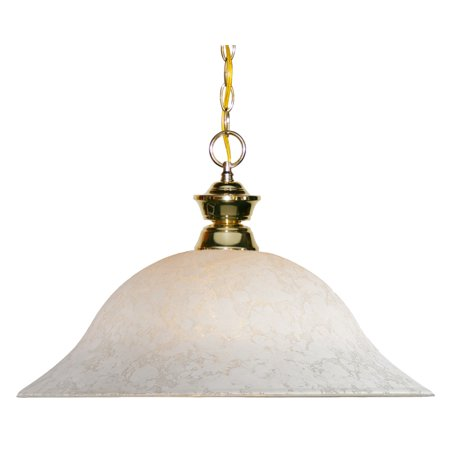 Pendants 1 Light With Polished Brass Finish Steel Medium Base Bulb 16 inch 150 Watts ()