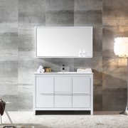 Fresca Allier Modern 48'' Single Bathroom Vanity Set with Mirror