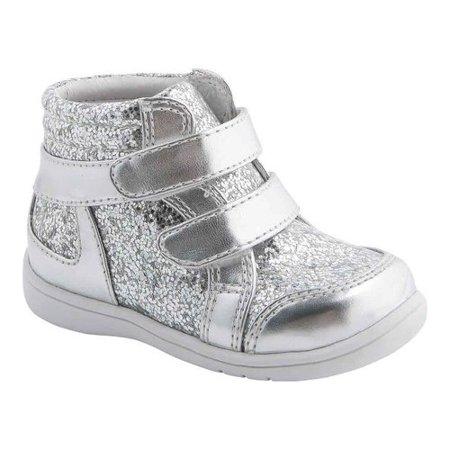 06bfff8c1ca1a Infant Girls' Nina Stardust High Top Silver Metallic/Glitter 7 M