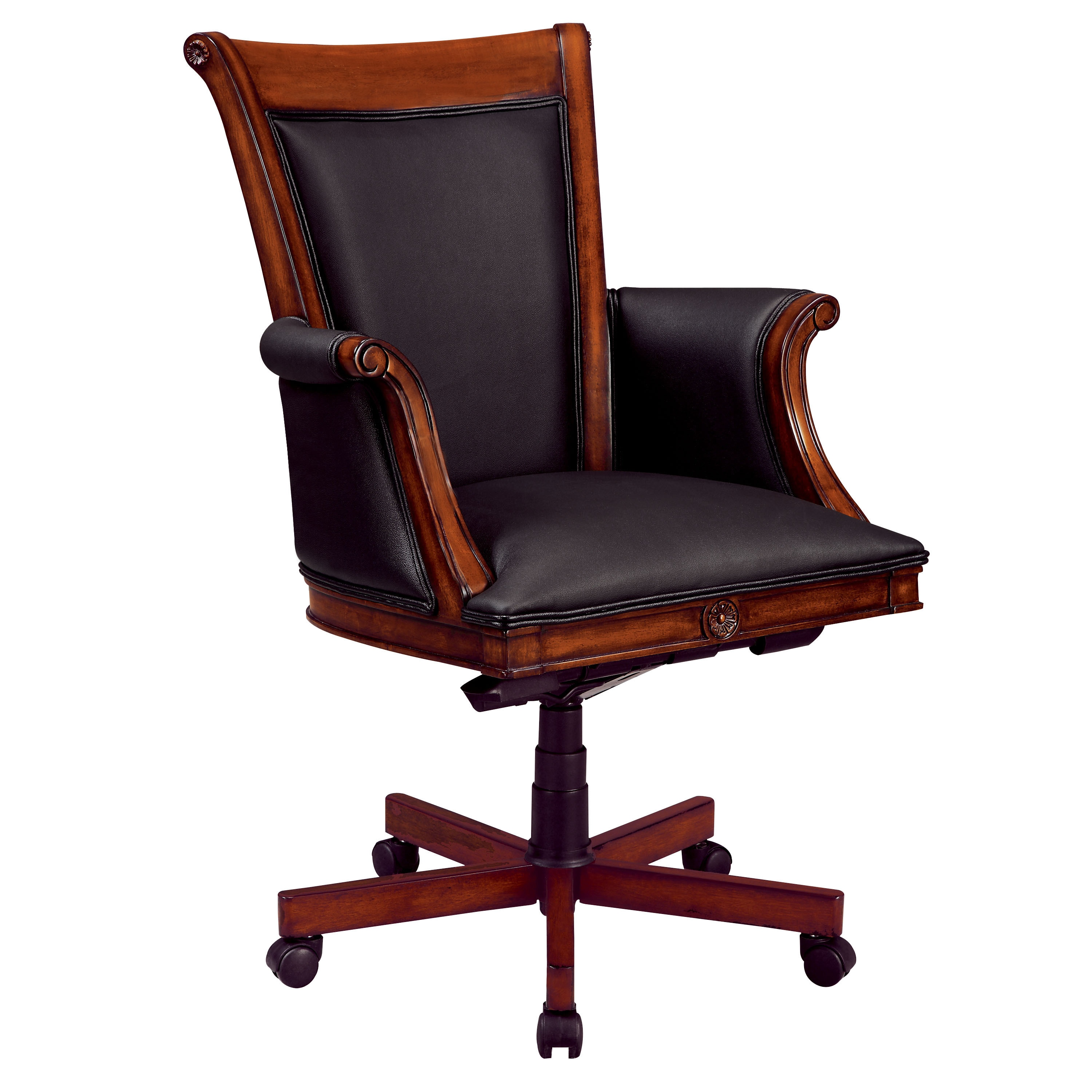 Dmi Office Furniture Executive High Back Chair with Wood/Upholstered Arms