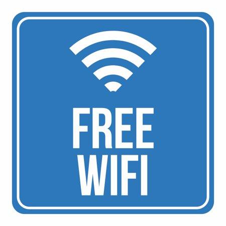 Aluminum Free Wifi Internet Signal Notice Office Business Square Sign 12x12 Walmart Com Walmart Com