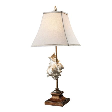 Dimond Lighting Delray LED Table Lamp in Conch Shell and Bronze