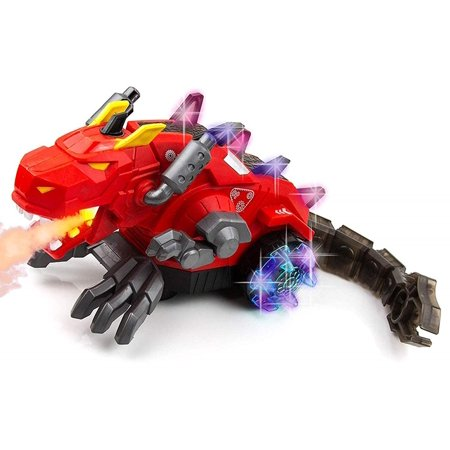 Toysery Mechanical Spray Dragon Dinosaur Toy for Kids - Walking Dragon Spray Mist with Red Light - Electric Toy Fire Breathing Water Spray Dinosaur for Boys, Girls